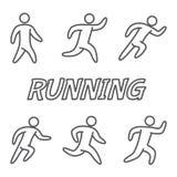 Esboça figuras dos corredores Foto de Stock