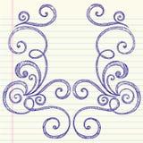 Esboçado de volta ao frame do Doodle da escola Imagem de Stock