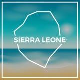 Esboço áspero do mapa de Serra Leoa contra ilustração royalty free