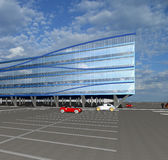 esboço 3D do edifício comercial moderno Imagens de Stock