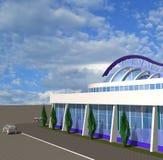 esboço 3D do edifício moderno Fotos de Stock