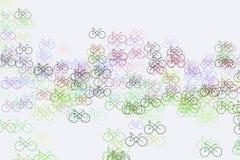 Esboço abstrato da bicicleta Arte, papel de parede, detalhes & superfície ilustração do vetor