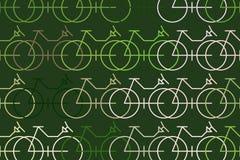 Esboço abstrato da bicicleta Decoração, gráfico, molde & detalhes ilustração stock