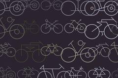 Esboço abstrato da bicicleta Desarrumado, arte finala, detalhes & fundo ilustração do vetor