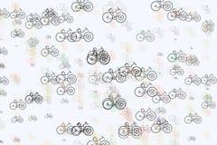 Esboço abstrato do fundo da bicicleta, mão tirada para o projeto Arte finala, gráfico, detalhes & conceito ilustração do vetor