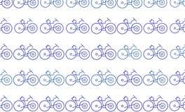 Esboço abstrato do fundo generative da arte da bicicleta Detalhes, teste padrão, ilustração & arte finala ilustração royalty free