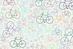 Esboço abstrato do fundo generative da arte da bicicleta Efeito, detalhes, molde & vetor ilustração stock
