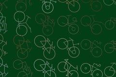 Esboço abstrato do fundo generative da arte da bicicleta Forma, desarrumado, de superfície & detalhes ilustração do vetor