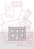 Esboço arquitectónico abstrato Imagens de Stock Royalty Free