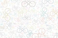Esboço artístico do sumário tirado mão do fundo da bicicleta Criativo, papel de parede, detalhes & colorido ilustração do vetor