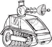 Esboço blindado do veículo de tanque Fotos de Stock Royalty Free