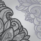 Esboço cinzento floral na luz Imagem de Stock