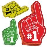 Esboço colorido dos dedos da espuma Fotografia de Stock Royalty Free