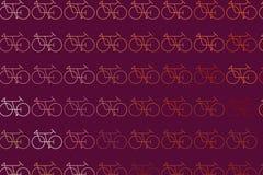 Esboço conceptual do fundo da bicicleta para o catálogo ou a textura do projeto Contexto, tampa, detalhes & forma ilustração royalty free