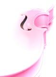 Esboço cor-de-rosa artístico estilizado do violino foto de stock