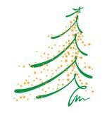 Esboço da árvore de Natal Fotos de Stock Royalty Free