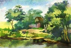 Lagoa pequena ilustração royalty free