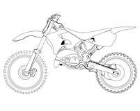 Esboço da bicicleta da sujeira Fotos de Stock Royalty Free