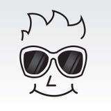 Esboço da cara dos óculos de sol Fotografia de Stock Royalty Free