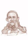 Esboço da caricatura de Barack Obama Imagem de Stock