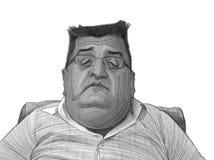 Esboço da caricatura de Lambros Skordas Fotos de Stock