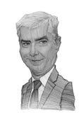 Esboço da caricatura de Simos Kedikoglou fotografia de stock royalty free