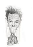 Esboço da caricatura de Stan Laurel imagens de stock