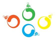 Esboço da carta branca de esferas do Natal Foto de Stock Royalty Free