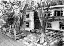 Esboço da casa do gulangu de Xiamen Imagem de Stock