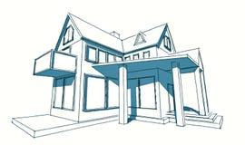 Esboço da casa simples ilustração royalty free