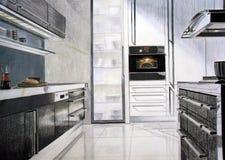 Esboço da cozinha Imagens de Stock Royalty Free