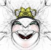 Esboço da face da mulher Fotografia de Stock