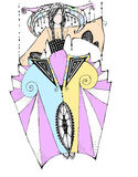 Esboço da fantasia do vestido Imagem de Stock Royalty Free