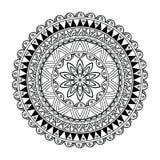 Esboço da flor da mandala dentro Imagens de Stock Royalty Free