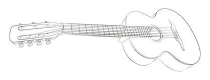 Esboço da guitarra Imagem de Stock Royalty Free