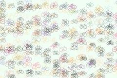Esboço da mão do fundo da bicicleta tirada, bom para o projeto gráfico Detalhes, desenho, & arte finala ilustração do vetor