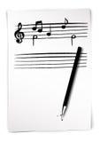 Esboço da música de folha Ilustração Stock