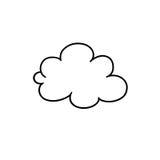 Esboço da nuvem Fotografia de Stock