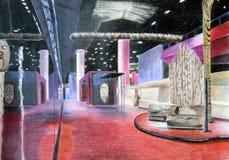 Esboço da sala de exposições Imagem de Stock