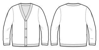 Esboço da tecnologia de um casaco de lã Foto de Stock