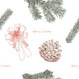 Esboço da tração da mão do conceito do Natal Imagem de Stock