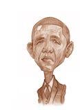 Esboço de Barack Obama Imagem de Stock