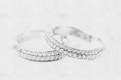Esboço de Diamond Earrings foto de stock