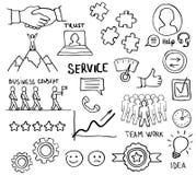 Esboço de ferramentas da confiança do cuidado do serviço de apoio da lealdade do cliente Fotos de Stock