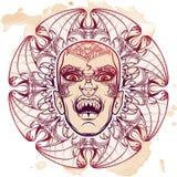 Esboço de Lilith no fundo do grunge Imagens de Stock Royalty Free
