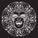 Esboço de Lilith no fundo do grunge Imagem de Stock