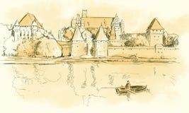 Esboço de Malbork Imagens de Stock Royalty Free