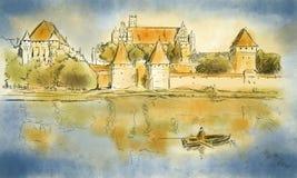 Esboço de Malbork Imagem de Stock Royalty Free