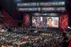 Esboço 2015 de NHL Noah Juulsen, o Montreal Canadiens Fotos de Stock Royalty Free