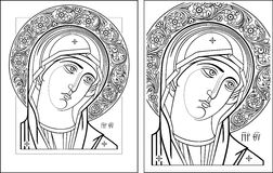 Esboço de Oplechnaya do Virgin Imagens de Stock